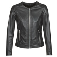 material Women Leather jackets / Imitation leather Oakwood PLEASE Black