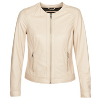 material Women Leather jackets / Imitation leather Oakwood MICHELLE Beige / Pink