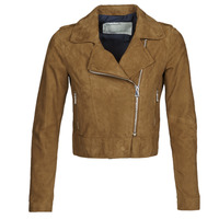 material Women Leather jackets / Imitation leather Oakwood PHOEBE Cognac / Suede