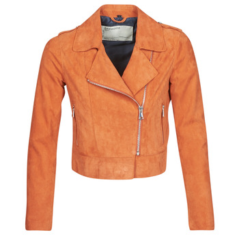 material Women Leather jackets / Imitation leather Oakwood KEREN Rust