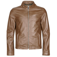 material Men Leather jackets / Imitation leather Oakwood KEREN Cognac