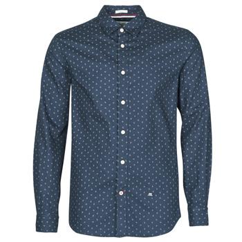 material Men long-sleeved shirts Pepe jeans ADAN Marine