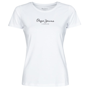 material Women short-sleeved t-shirts Pepe jeans NEW VIRGINIA White