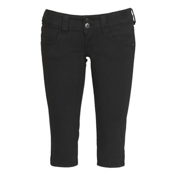 material Women cropped trousers Pepe jeans VENUS CROP Black