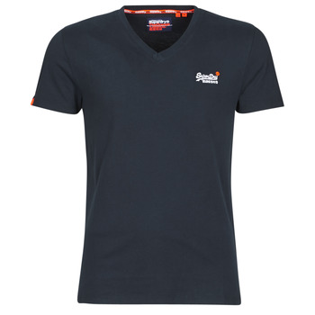 material Men short-sleeved t-shirts Superdry ORANGE LABEL VNTGE EMB VEE TEE Eclipse / Navy