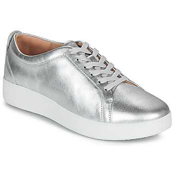 Shoes Women Low top trainers FitFlop RALLY SNEAKERS Silver