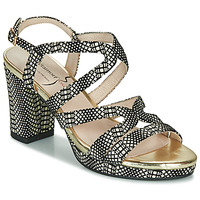 Shoes Women Sandals Metamorf'Ose GABBION Black / White