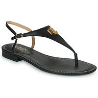 Shoes Women Sandals Lauren Ralph Lauren ELLINGTON SANDALS CASUAL Black