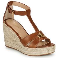 Shoes Women Sandals Lauren Ralph Lauren HALE ESPADRILLES CASUAL Cognac