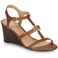 Shoes Women Sandals Lauren Ralph Lauren CHARLTON SANDALS CASUAL WEDGE Cognac