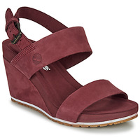 Shoes Women Sandals Timberland CAPRI SUNSET WEDGE Bordeaux