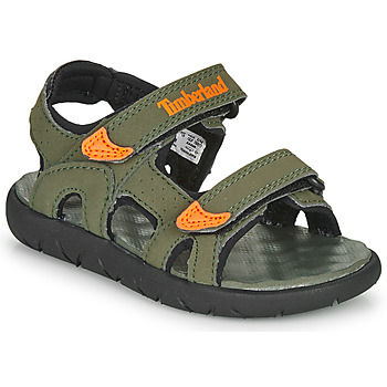 Shoes Children Sandals Timberland Perkins Row 2-Strap Green / Orange