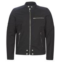 material Men Leather jackets / Imitation leather Diesel J-GLORY Black