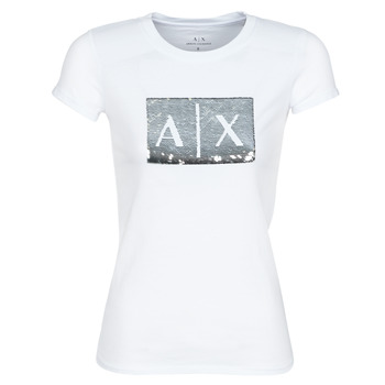 material Women short-sleeved t-shirts Armani Exchange HANEL White