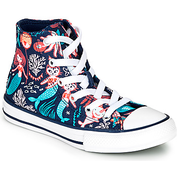 Shoes Girl High top trainers Converse Chuck Taylor All Star Underwater Party Blue
