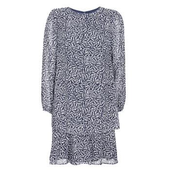 material Women Short Dresses Lauren Ralph Lauren Alois Marine / White