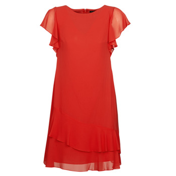 material Women Short Dresses Lauren Ralph Lauren Arolde Red