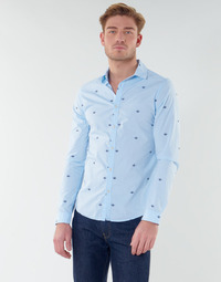 material Men long-sleeved shirts Scotch & Soda RAMAZZE Blue