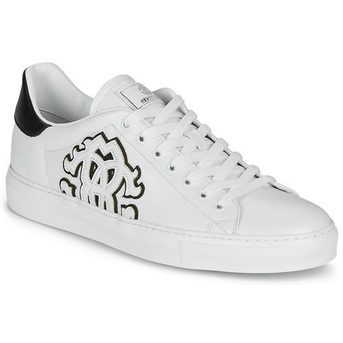 Shoes Men Low top trainers Roberto Cavalli 1005 White / Black