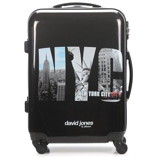 Bags Hard Suitcases David Jones STEBI 53L Black