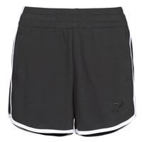 material Women Shorts / Bermudas Converse Twisted Varsity Short  black