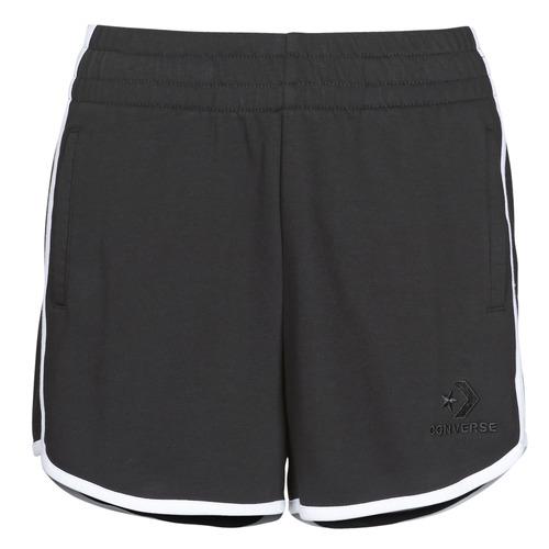 material Women Shorts / Bermudas Converse TWISTED VARSITY SHORT Black