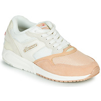 Shoes Women Low top trainers Ellesse NYC84 SUED AF White / Pink