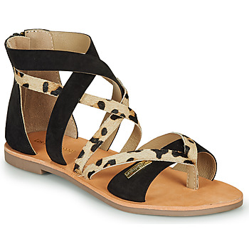Shoes Women Sandals Les Tropéziennes par M Belarbi POPS Black / Leopard