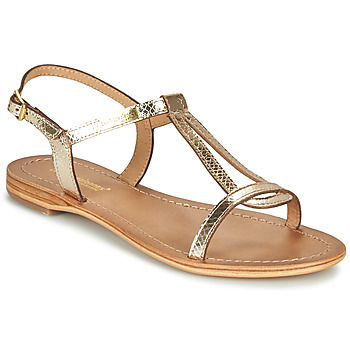 Shoes Women Sandals Les Tropéziennes par M Belarbi HAMAT Gold / Serpent