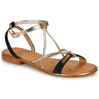 Shoes Women Sandals Les Tropéziennes par M Belarbi HIRONBUC Black / Gold