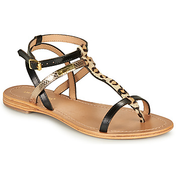 Shoes Women Sandals Les Tropéziennes par M Belarbi BAIE Black / Leopard