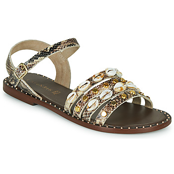 Shoes Women Sandals Café Noir MIRADO Brown