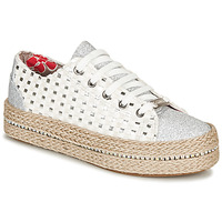 Shoes Women Low top trainers Café Noir MERYOU White / Silver