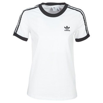 material Women short-sleeved t-shirts adidas Originals 3 STR TEE White