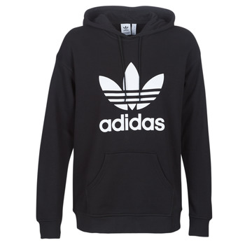 material Women sweaters adidas Originals TRF HOODIE Black
