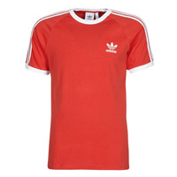 material Men short-sleeved t-shirts adidas Originals 3-STRIPES TEE Red