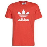 material Men short-sleeved t-shirts adidas Originals TREFOIL T-SHIRT Red