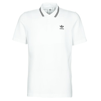 material Men short-sleeved polo shirts adidas Originals PIQUE POLO White