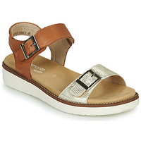 Shoes Women Sandals Remonte Dorndorf ZELDI Silver / Cognac