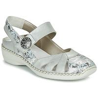 Shoes Women Sandals Rieker KYLIAN Silver