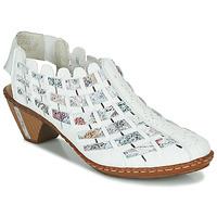 Shoes Women Low boots Rieker KANIN White / Multicoloured