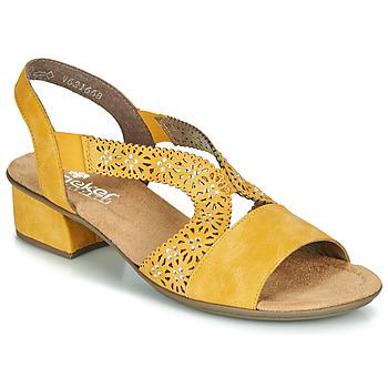 Shoes Women Sandals Rieker NOUCK Yellow