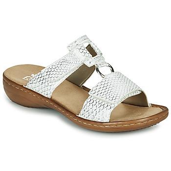 Shoes Women Mules Rieker MOLLY Silver