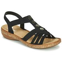 Shoes Women Sandals Rieker NEX Black