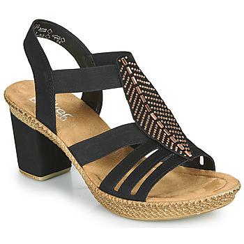 Shoes Women Sandals Rieker ROOT Black