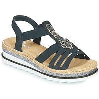 Shoes Women Sandals Rieker LOUANN Black