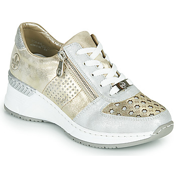 Shoes Women Low top trainers Rieker LEA Gold / Silver