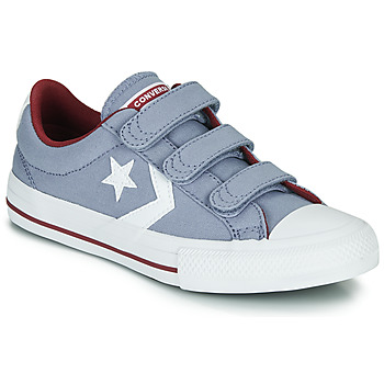 Shoes Boy Low top trainers Converse STAR PLAYER 3V VARSITY CANVAS Grey
