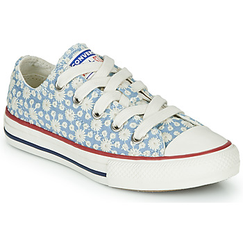 Shoes Girl High top trainers Converse Chuck Taylor All Star Little Miss Chuck Blue / Multi