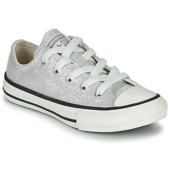 Shoes Children Low top trainers Converse CHUCK TAYLOR ALL STAR SUMMER SPARKLE Grey
